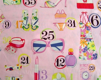 VHTF OOP from 2004 Shopping Spree - Fabric By The Yard 18 inches x 22 inches