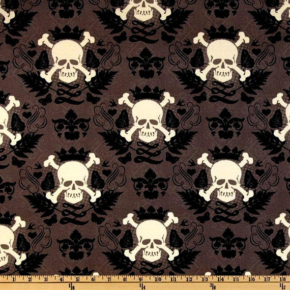 Knitty Gritty Skully Mud - Fabric By The Yard - H