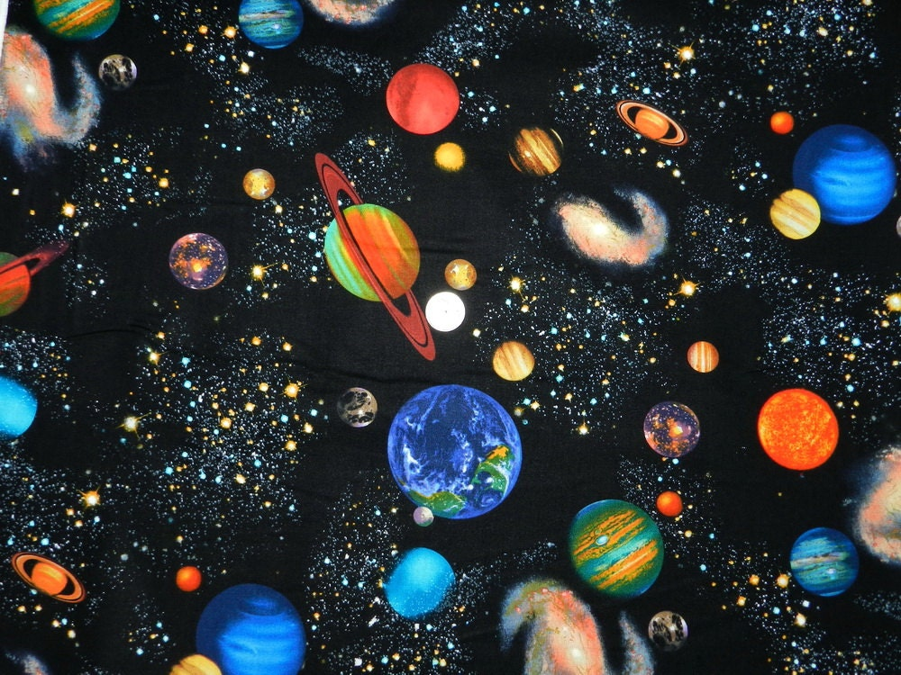 Colorful outer space 18 inches x 22 inches for Outer space fabric by the yard