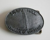 Signal Hill Founded in 1941 Chamber of Commerce Trucker Belt Buckle