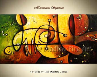 Abstract Acrylic Painting, Abstract art, Painting on canvas, Art on Large canvas by Madhav - Size: 48'' x 24'' (122cm x 61cm)