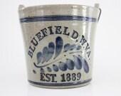Vintage Salt Glazed Pottery Bucket