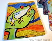 "Art Magnet Funky Frog 3.5"" x 5"""