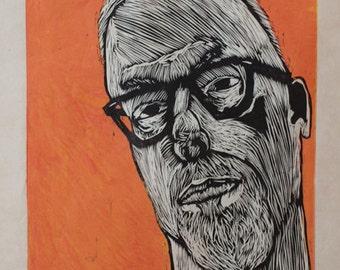 Hand-Pulled Woodcut Self June 2012