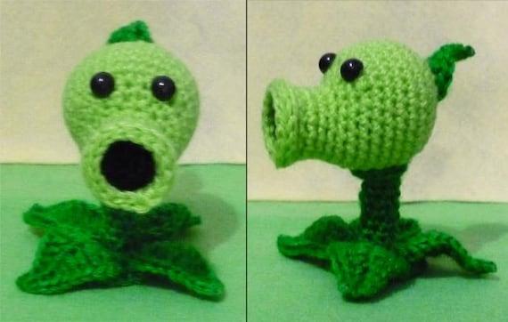 Amigurumi Plants Vs Zombies : Crochet Pea shooter amigurumi Plants vs zombies by ...