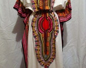 Vintage hippie boho gypsy festival WOODSTOCK dashiki MAXI DRESS M L free ship