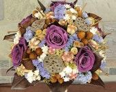 Woodland Wedding Bouquet, Woodland Bouquet, Vineyard Wedding, Vineyard Bouquet, Rustic Wedding, Rustic Bouquet, Bouquet, Purple Rose