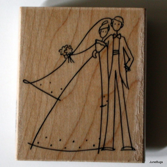 Wedding Couple Invitation Card Rubber Stamp