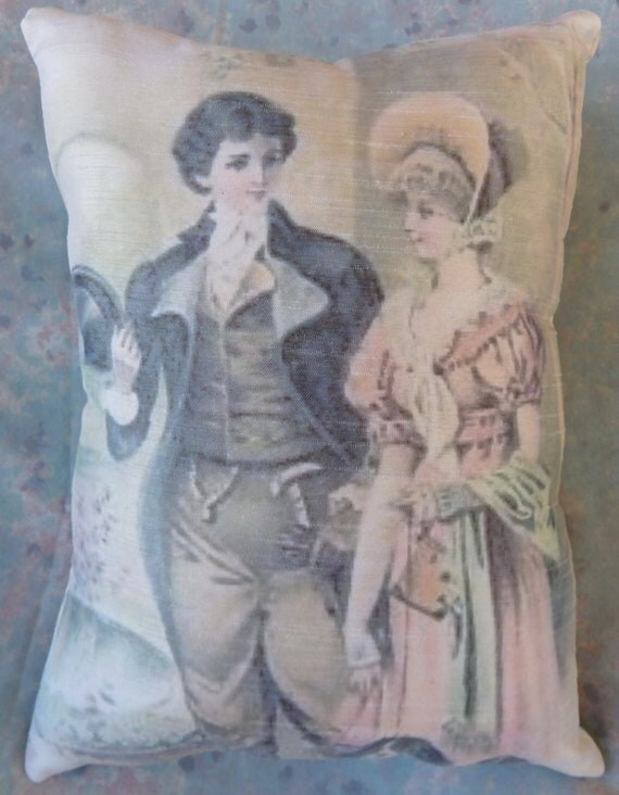 Items Similar To Jane Austen Style Pillow With Mr Darcy