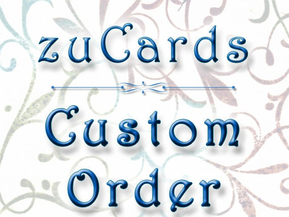 Custom Listing for Karin - 7 Menu cards, 23 Itinerary Cards, 30 Thank You Cards