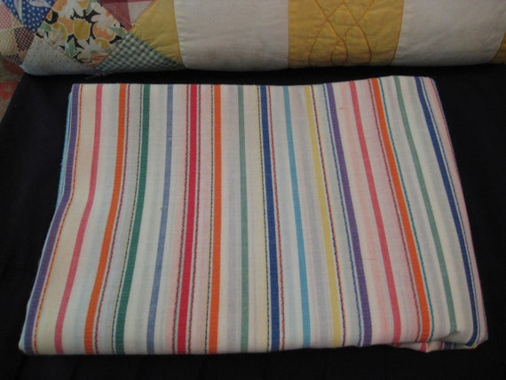 Vintage Quilters Fabric From the 1960's 1-1/3yard 45 inch wide Cotton Stripe
