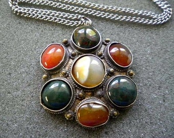 Vintage Tribal Ethnic Pendant Necklace  Artisan Crafted