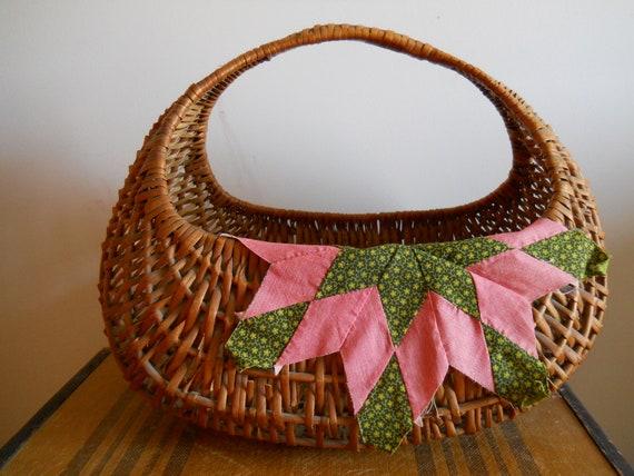 to market, to market - vintage woven market basket