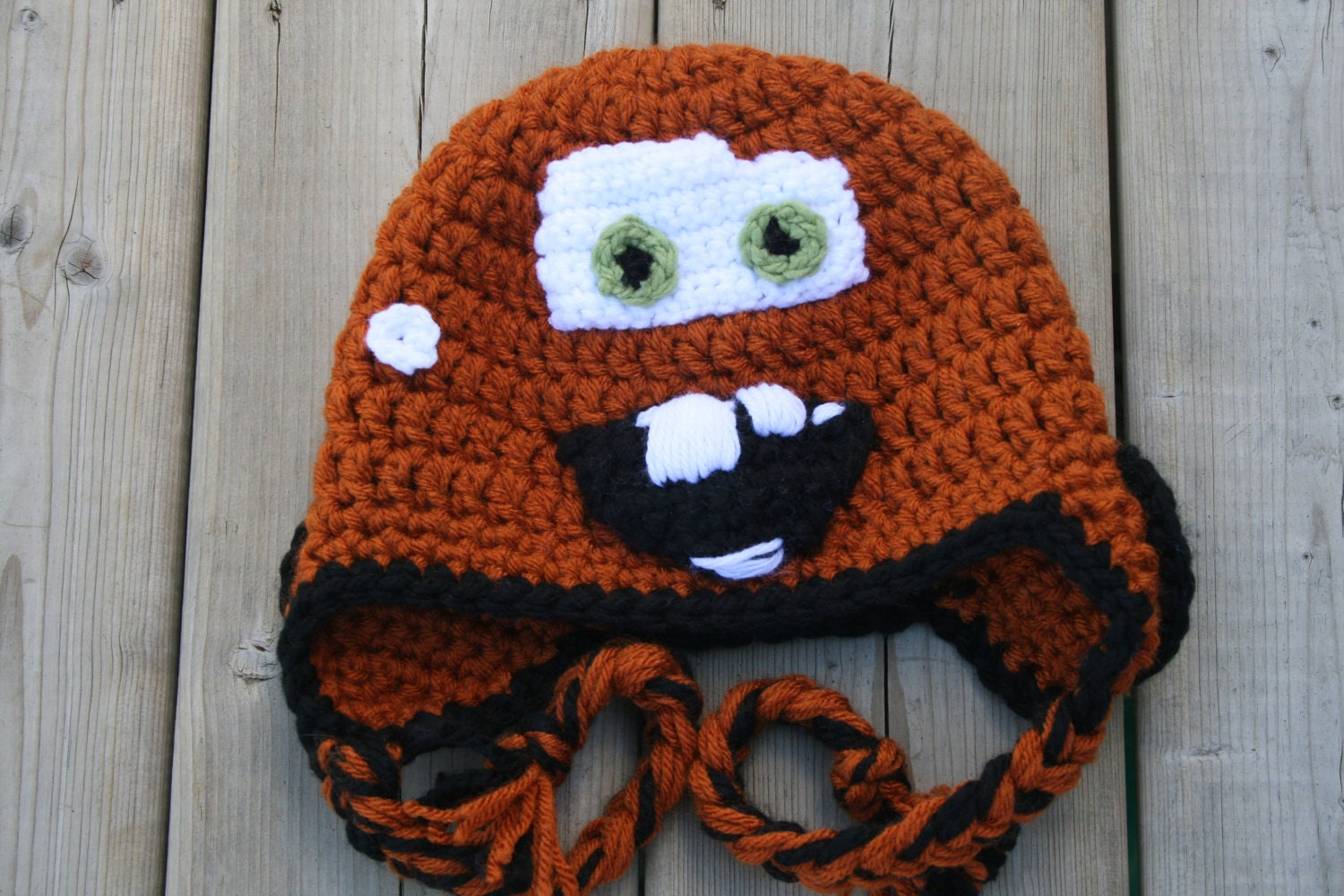 Tow mater inspired hat crochet pattern newborn toddler child this is a digital file bankloansurffo Choice Image