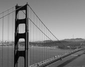 Black Friday Sale Golden Gate Bridge Photograph Industrial Iconic Image San Francisco Skyline Black and White Print 8x10