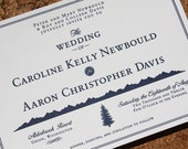 Caroline & Aaron Letterpress Wedding Invitations