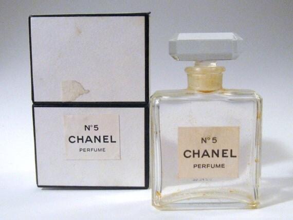 vintage 1960s chanel no 5 french crystal glass 12 oz perfume