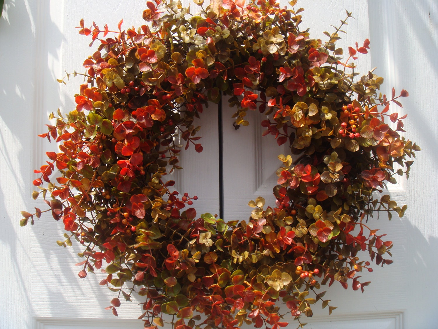 Fall Boxwood Wreath Front Door Wreath Autumn Door Decor