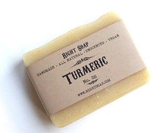 Natural Soap Vegan Soap Unscented Soap Handmade Soaps Face Soap All Natural Soap Cold process Soap Turmeric Soap
