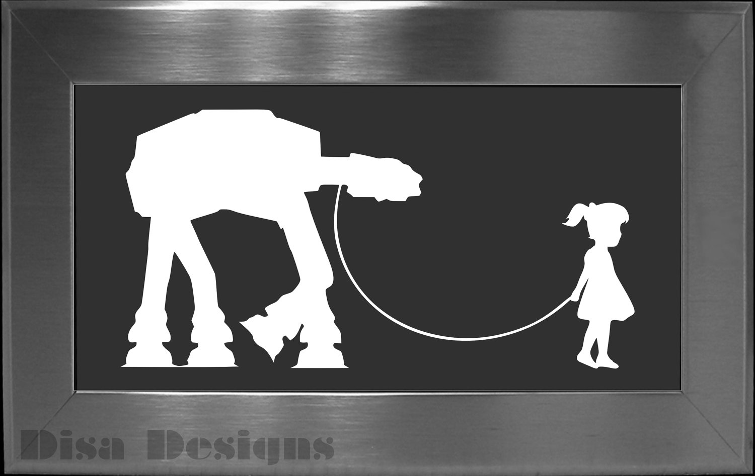 Family car sticker designs - Girl And Her At At Vinyl Decal Car Decal Macbook Decal