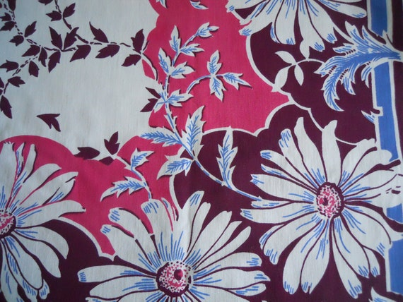 Cotton tablecloth purple pink blue  ( New lower price)