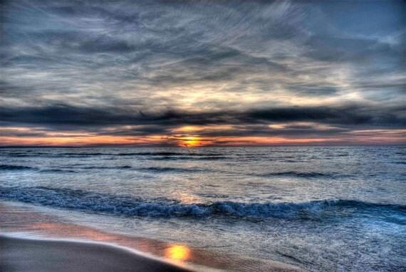 Lake Michigan Photography, Sunset Photo, Beach Photograph, Leelanau, Traverse City, Michigan, Pure Michigan