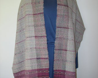 Hand Woven Danish Medallion and Leno Shawl