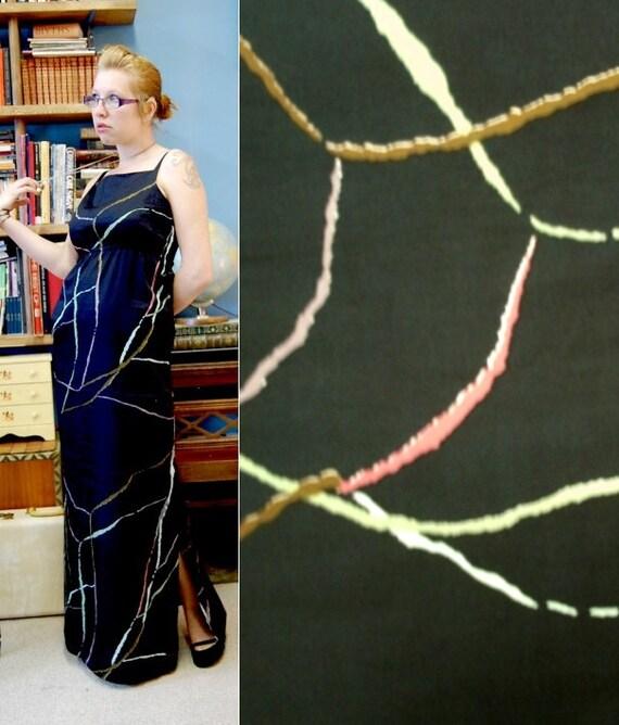 RESERVED FOR JULIE 1978 Maxi Dress Marimekko Polished Cotton Finland Large