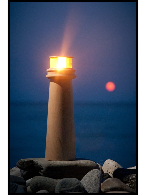Lighthouse Tea Light Holder in Solid Hard Maple - Medium