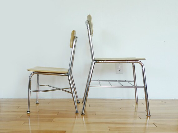 Reserved: Vintage Heywood Wakefield School Chairs Adult & Child Size