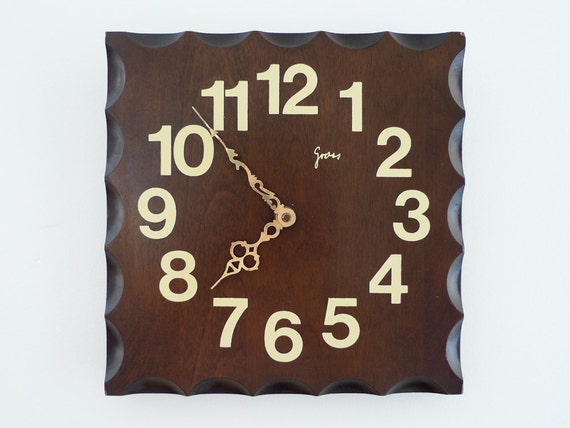 Vintage German 'Gross' Wall Clock