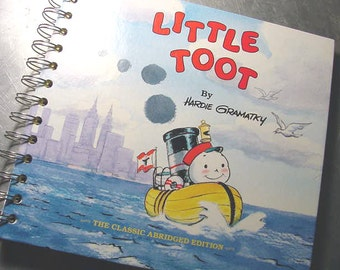Journal LITTLE TOOT  Notebook  recycled VINTAGE  book
