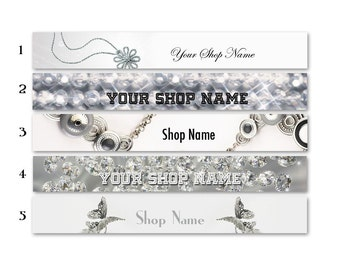 ETSY SHOP BANNERS Elegant Jewelry 2 Etsy Shop Banners and 2 Avatars