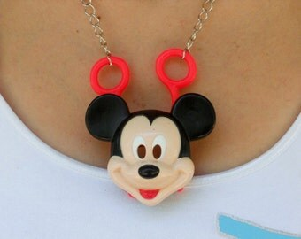 Mickey Mouse Necklace Plastic Toy