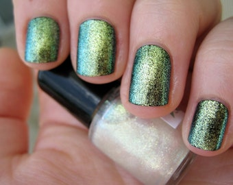 Star Jewel Duochrome Glass Fleck Top Coat Custom Nail Polish 15mL