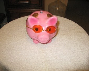 Collectible Ceramic Piggy Bank Wearing Sun Glasses