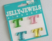 Letter T Jelly Jewels Resin Initial Cabochon
