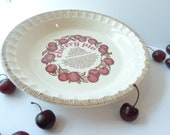 Vintage Pie Plate, Cherry Pie, Royal China Pie plate, Americana, Pie dish, Cherry