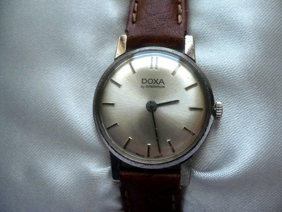 vintage doxa by synchron mechanical