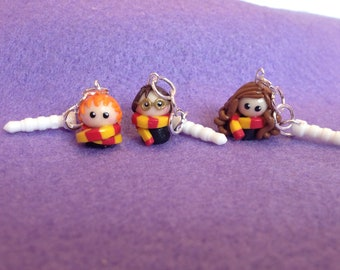 Chibi: Cell/Mobile Phone Dangles - Hermione.