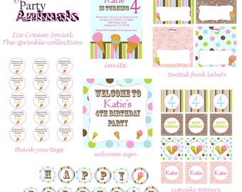 DIY Printable Ice Cream Party Package