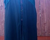 Reversible black and green wool cloak for men with hood
