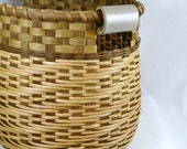 "Large Reed or Wicker Storage Basket for Laundry, Toys, Sewing, or Yarn ""Carabelle"""