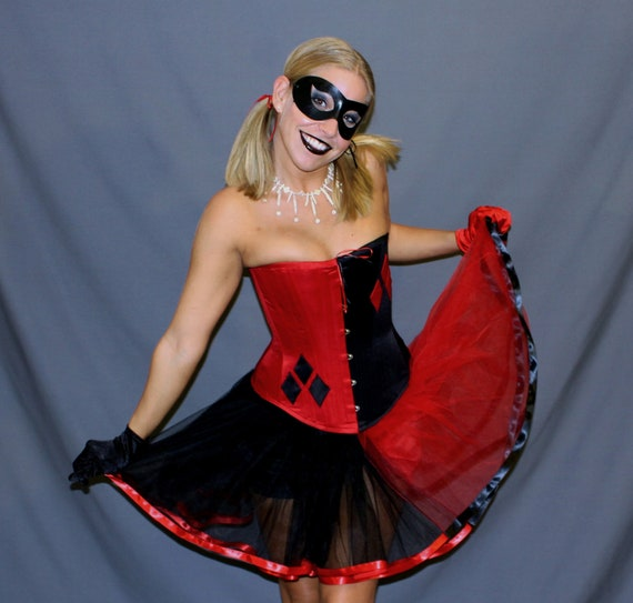 items similar to luxury harley quinn halloween costume. Black Bedroom Furniture Sets. Home Design Ideas