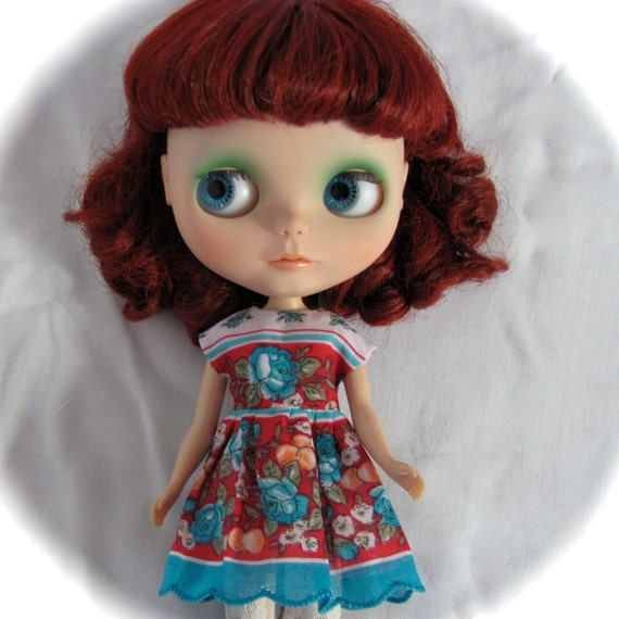 Pretty Flowery Handkerchief Dress with built in Petticoat for your BlytheStar