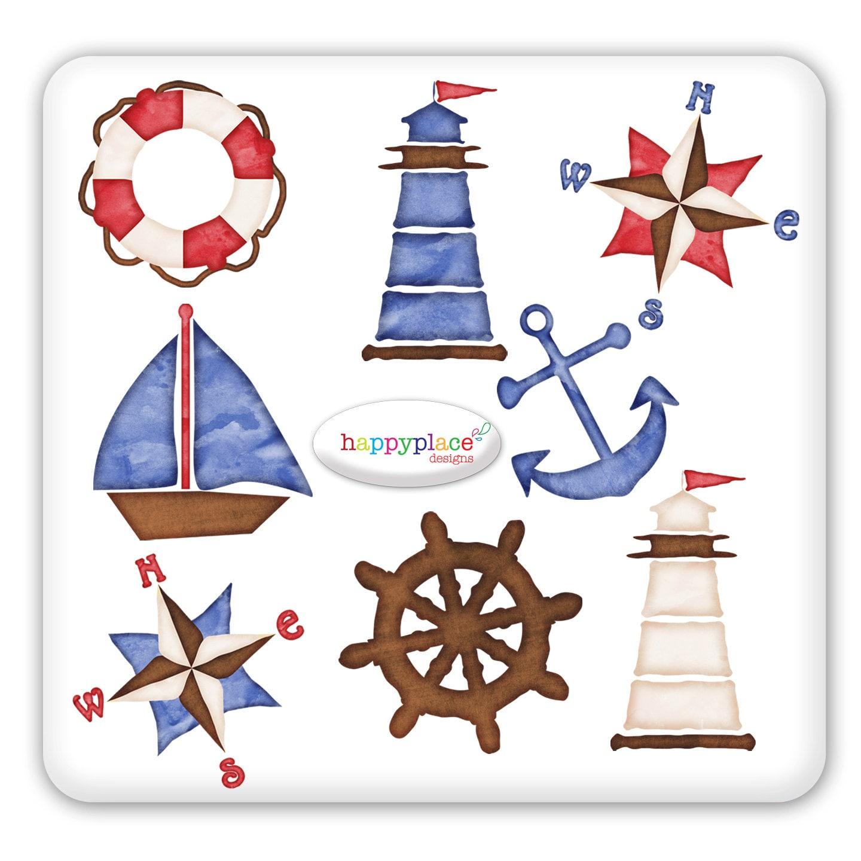 Nautical Clip Art for graphic design, Digital Scrapbooking ...
