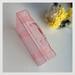 Vintage looking rare pink perspex nostalgic mini suitcase box