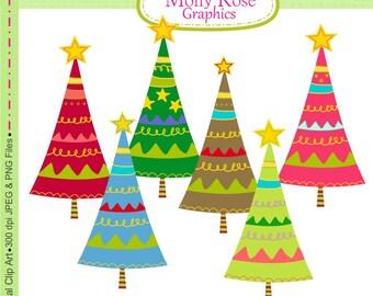 Christmas clip art , Digital Clip Art Christmas trees,  Invitations, Card Making, Scrapbooking  M.28 INSTANT DOWNLOAD