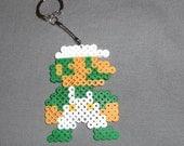 NES Luigi Inspired Keychain - Pixel Art