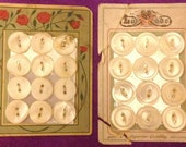24 Vintage Mother of Pearl Buttons